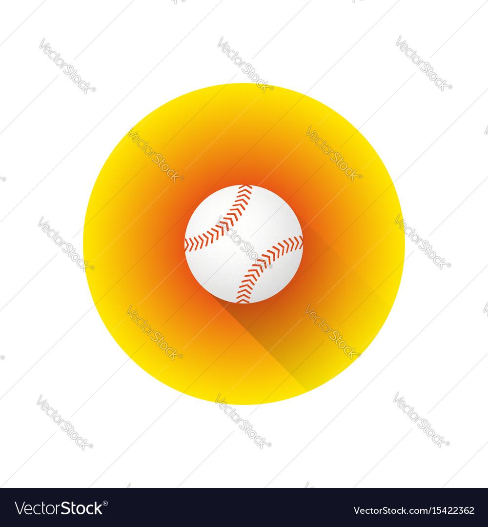 Flat color baseball ball vector image
