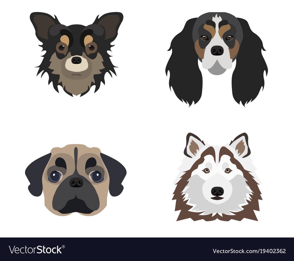 Flat dog icon