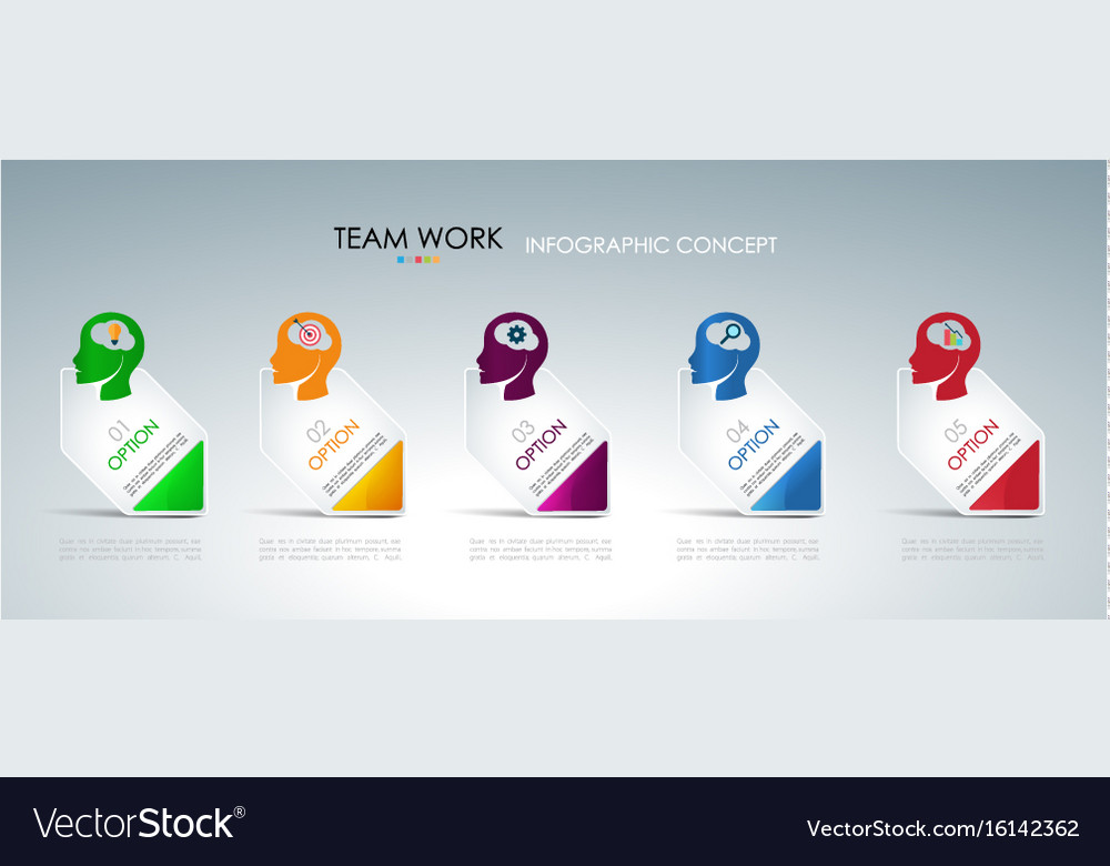 Info graphic teamwork business concept