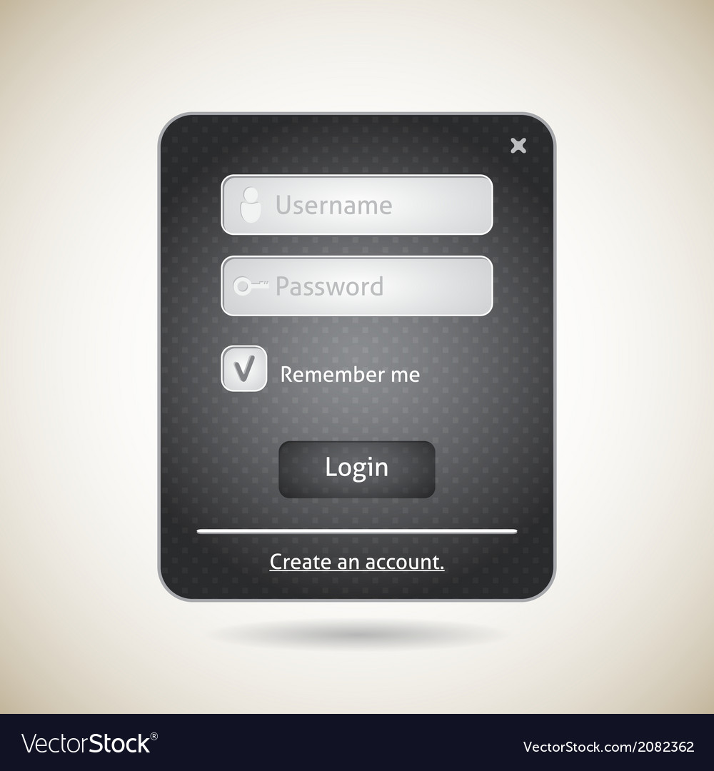 Login form ui grunge element