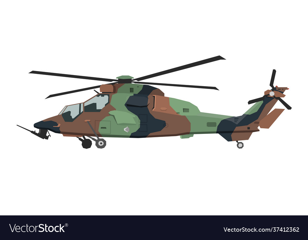 Nursery military helicopter drawing army vehicle