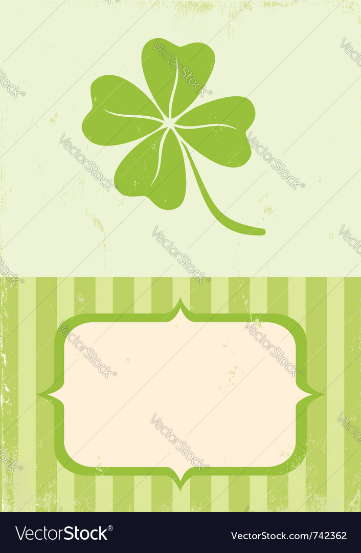 Of clover with four leaves vector image