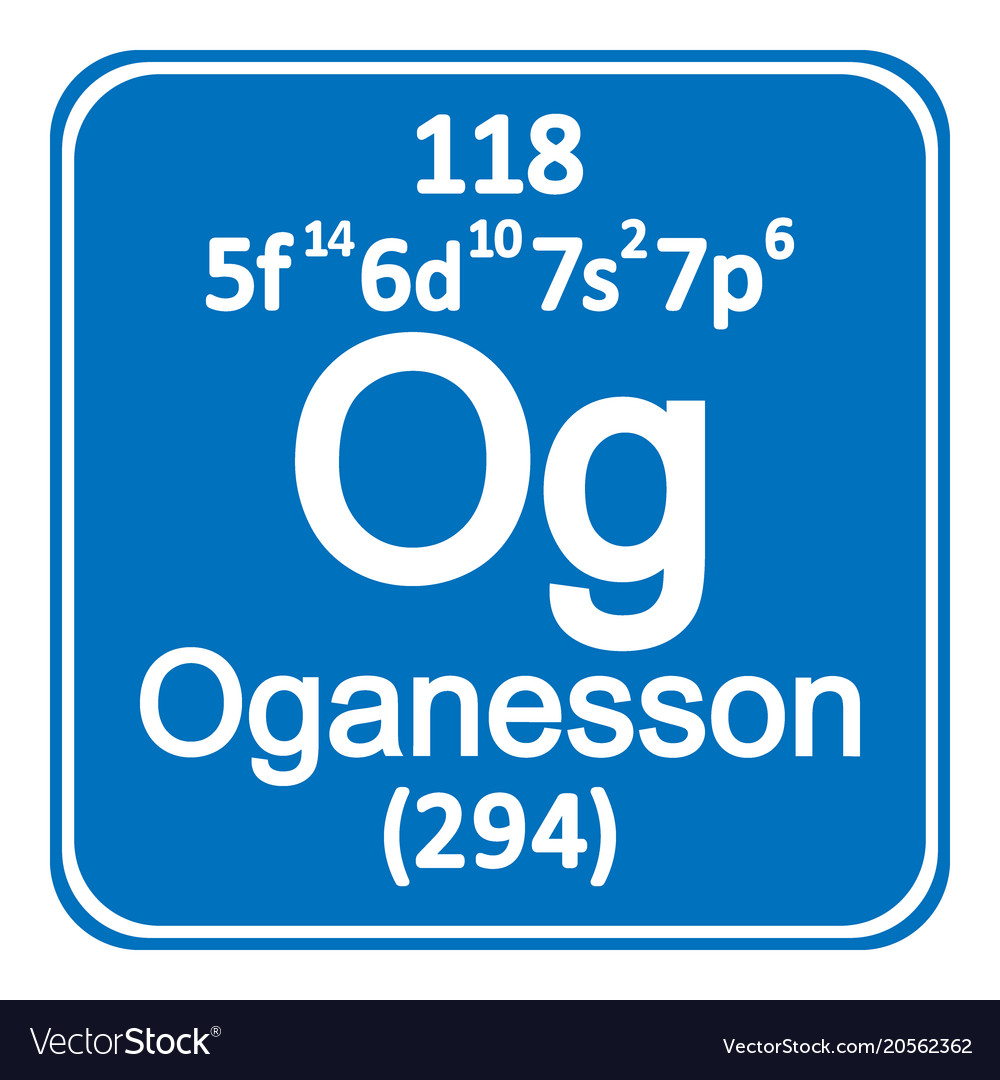 Periodic table element oganesson icon royalty free vector periodic table element oganesson icon vector image urtaz Gallery
