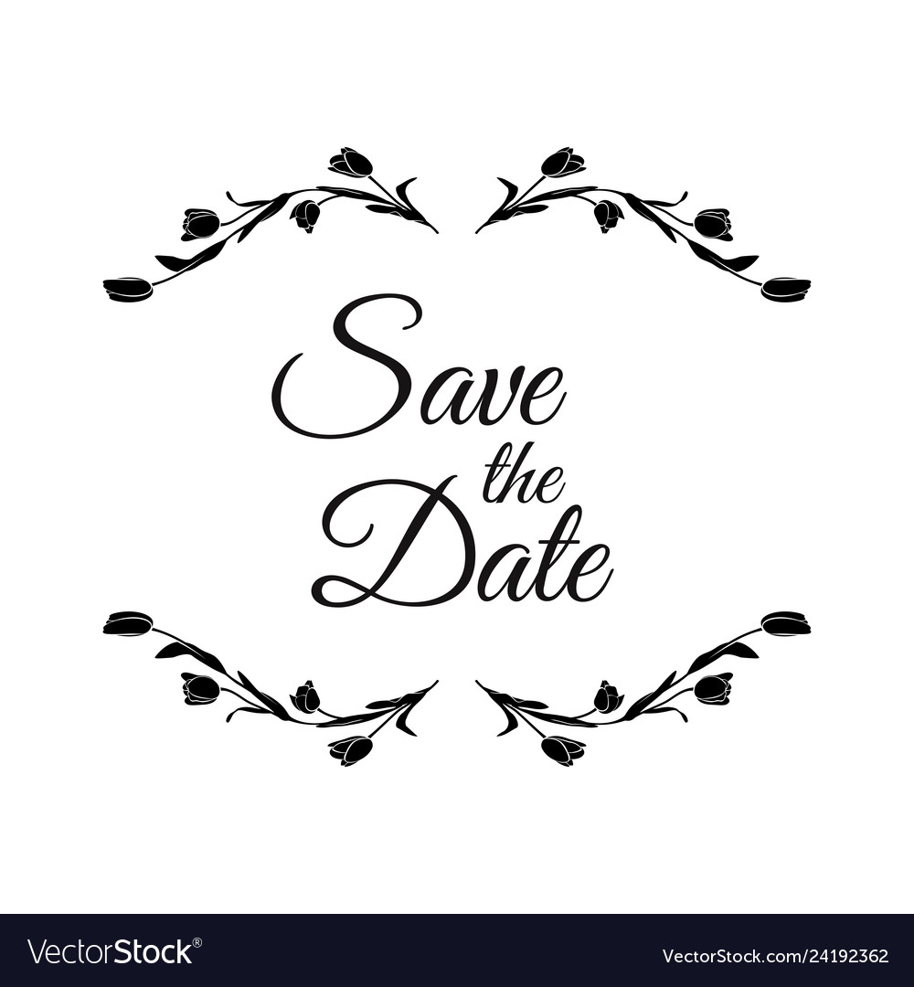 Save date wedding invitation template