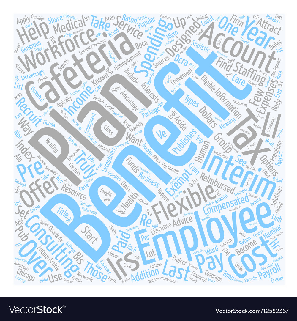 Cafeteria Benefits and Your Workforce text vector image