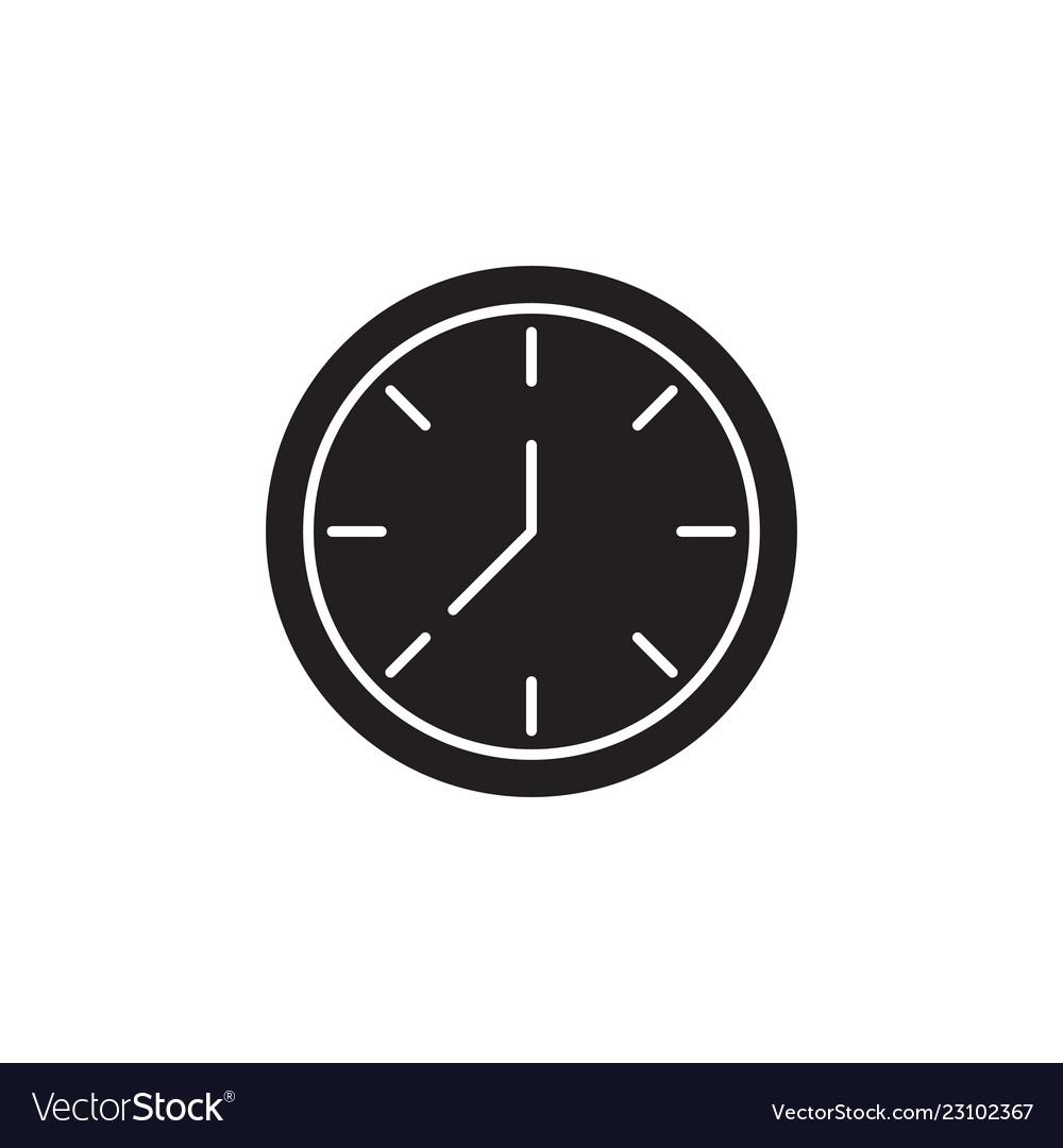 Clock signs and symbols icon