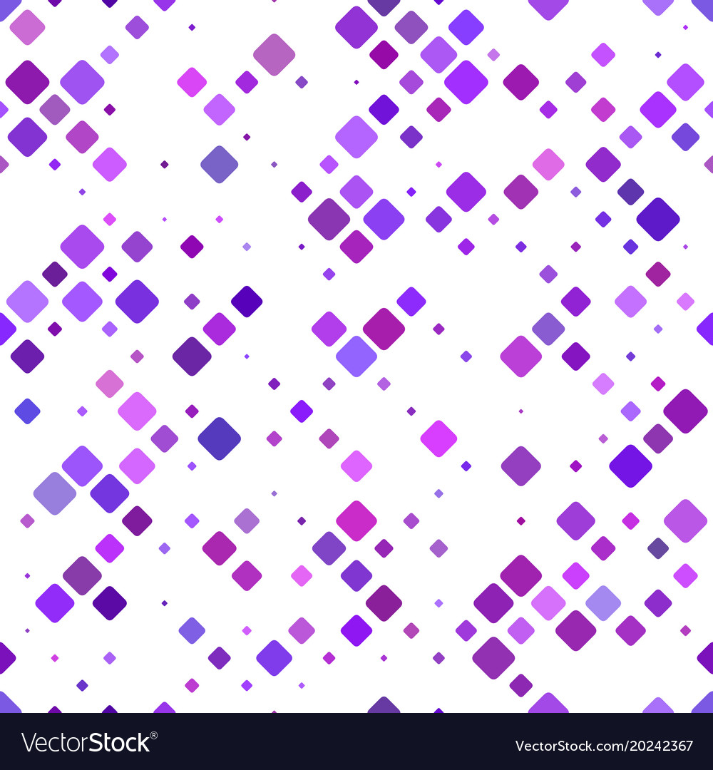Color rounded square pattern background vector image