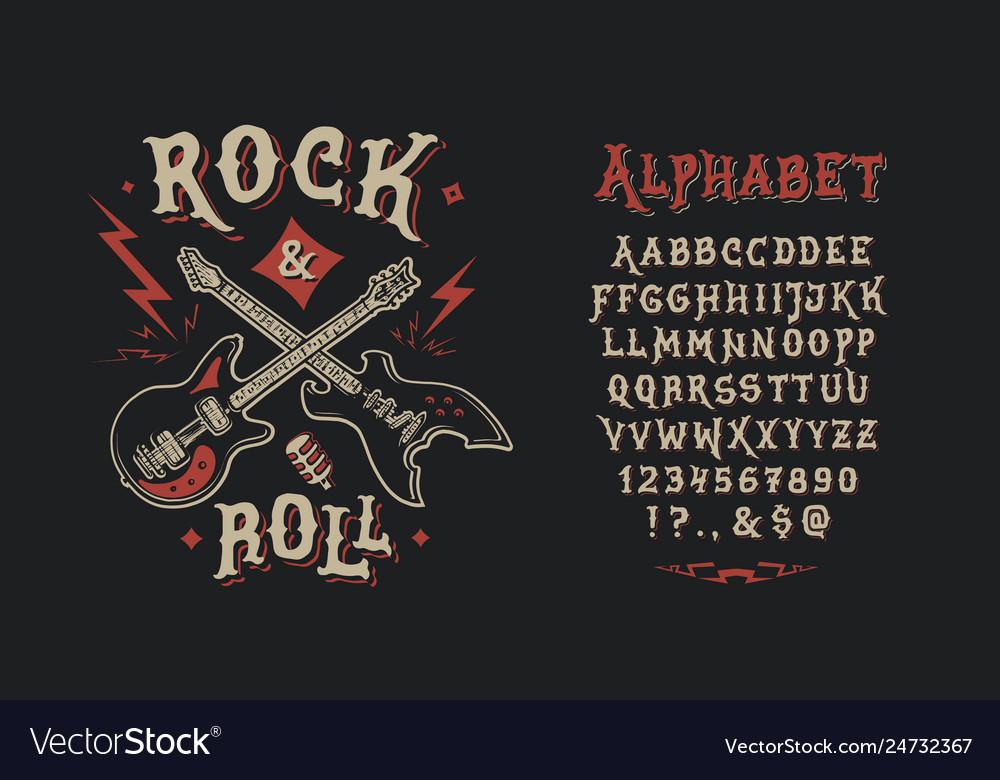 Font rock n roll