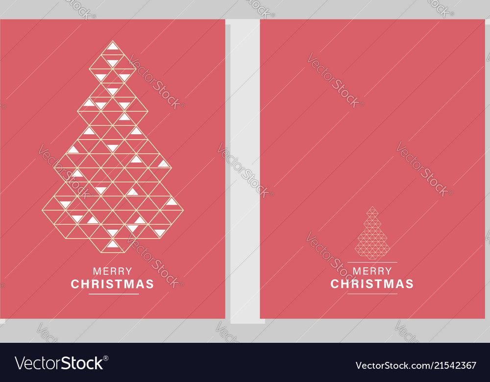 Merry christmas greeting cards and invitations Vector Image