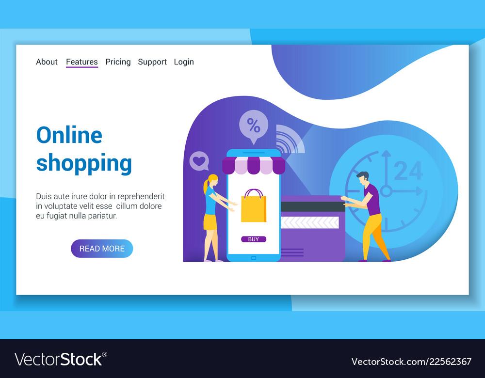 Online shopping lp template