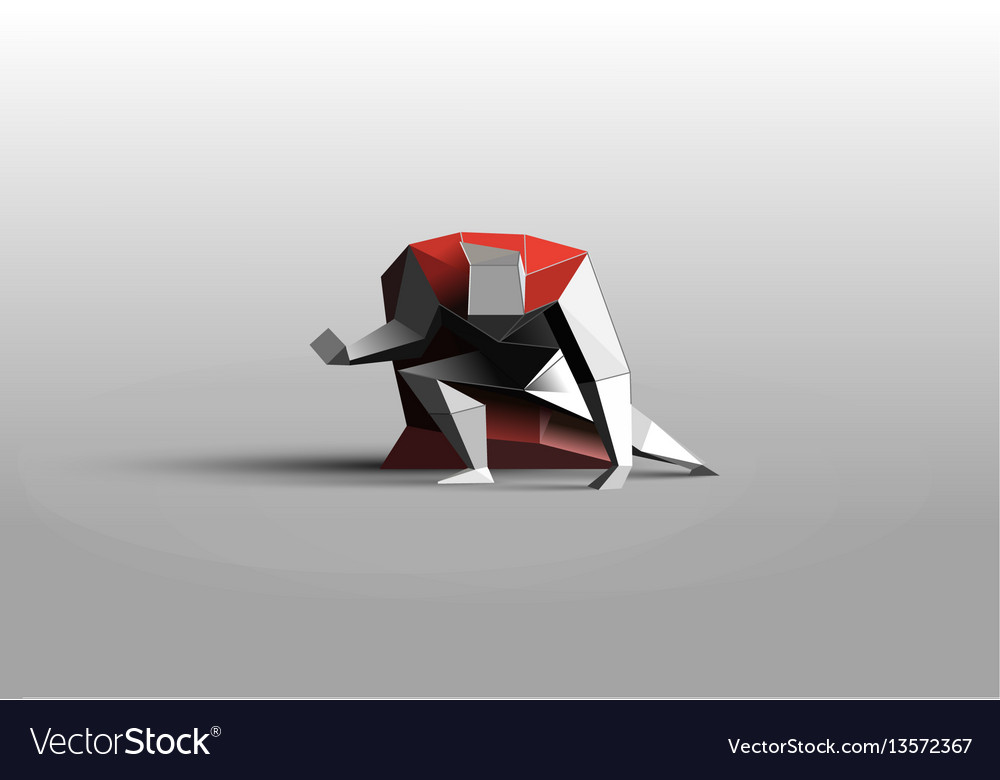 Polygonal of superhero business power icon vector image