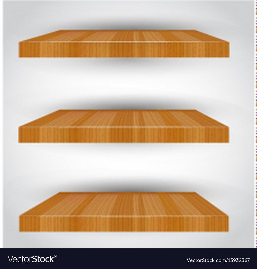Three-dimensional isolated empty shelf