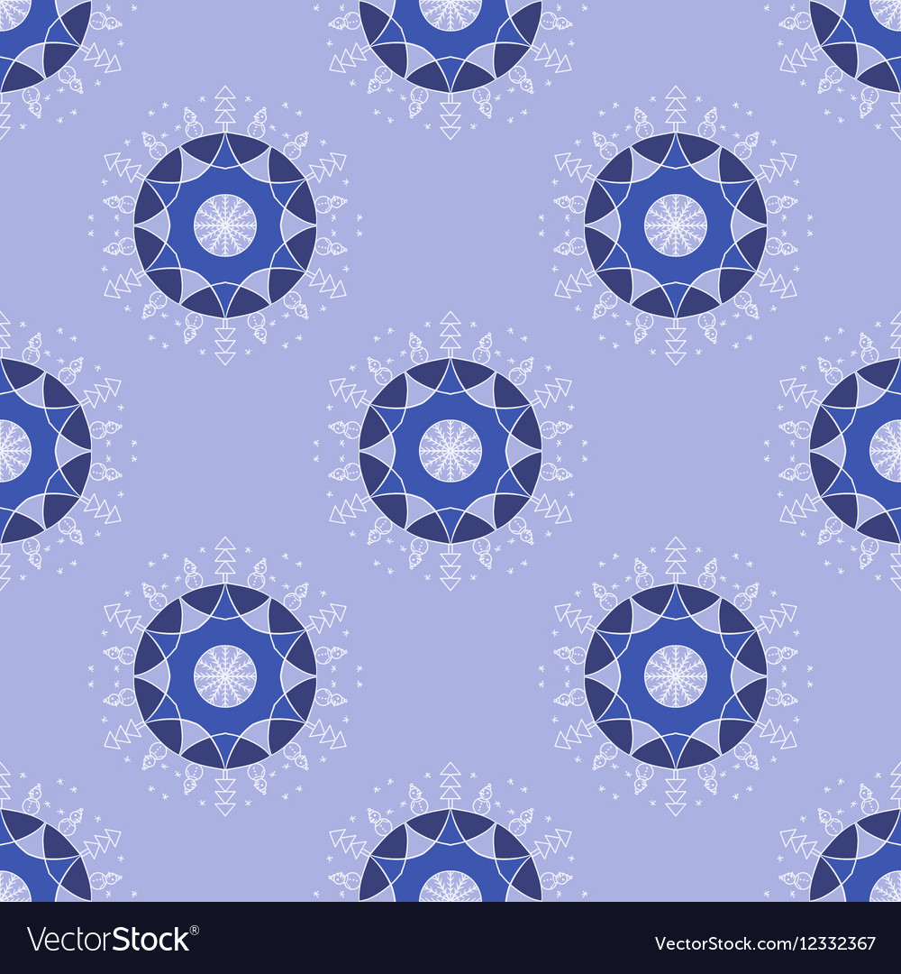 Winter holidays seamless background pattern vector image
