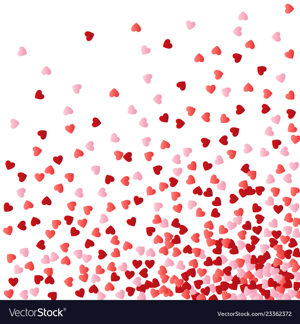 Background with red and pink falling hearts