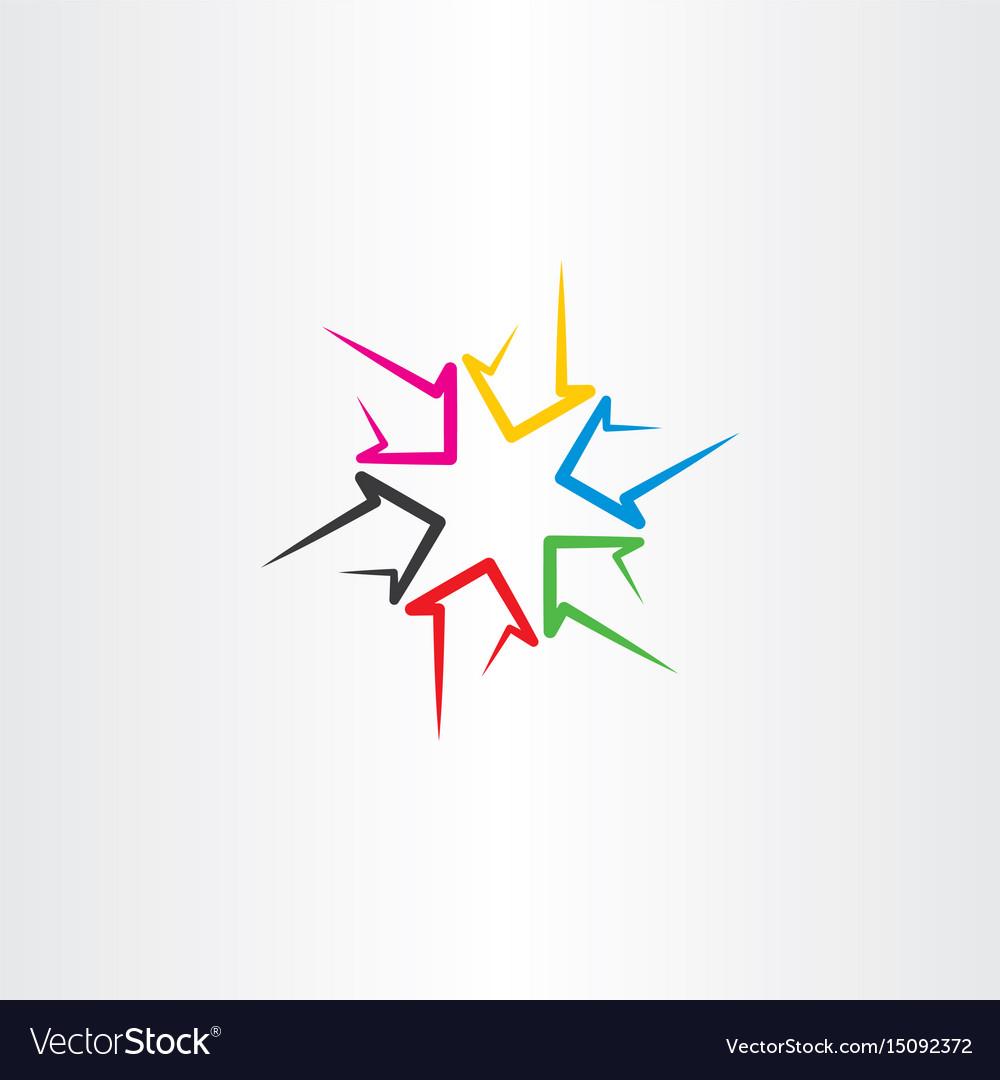 Colorful arrows sign symbol design