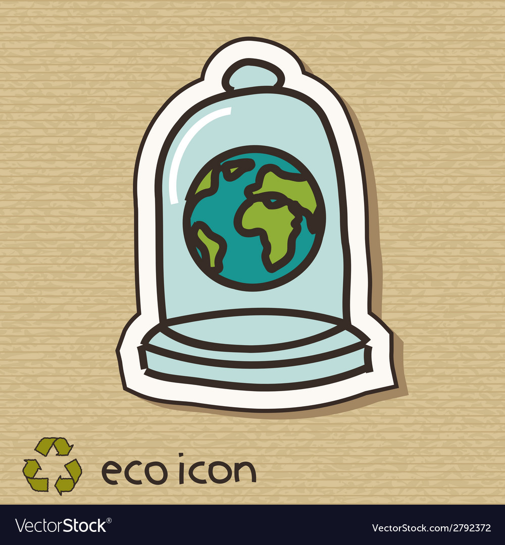 Eco concept on cardboard