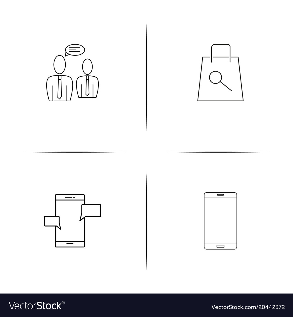 Internet of things simple linear icon setsimple vector image ccuart Gallery