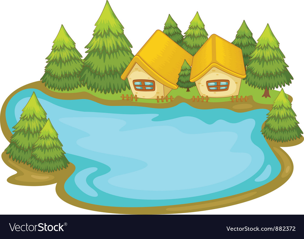 Lake House Royalty Free Vector Image