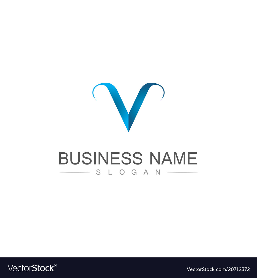 Letter v business logo