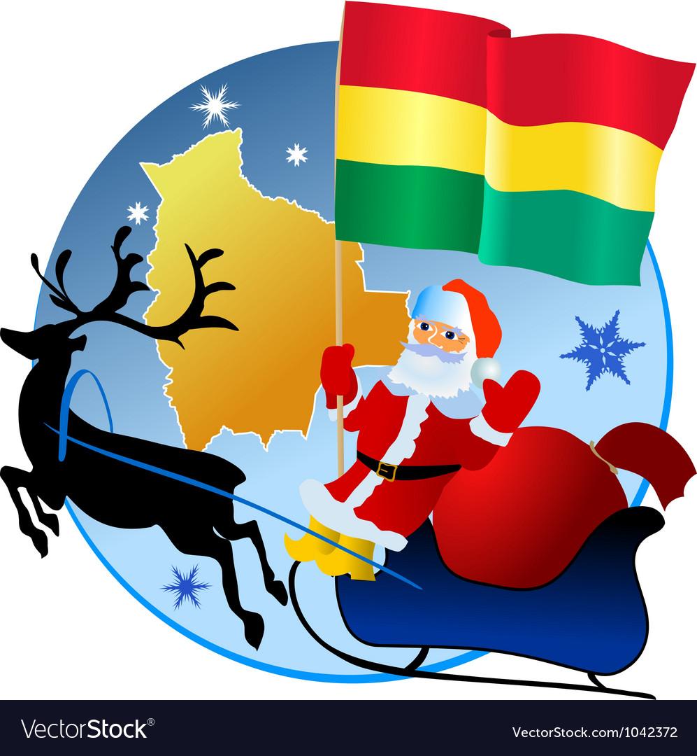 Merry Christmas Bolivia vector image
