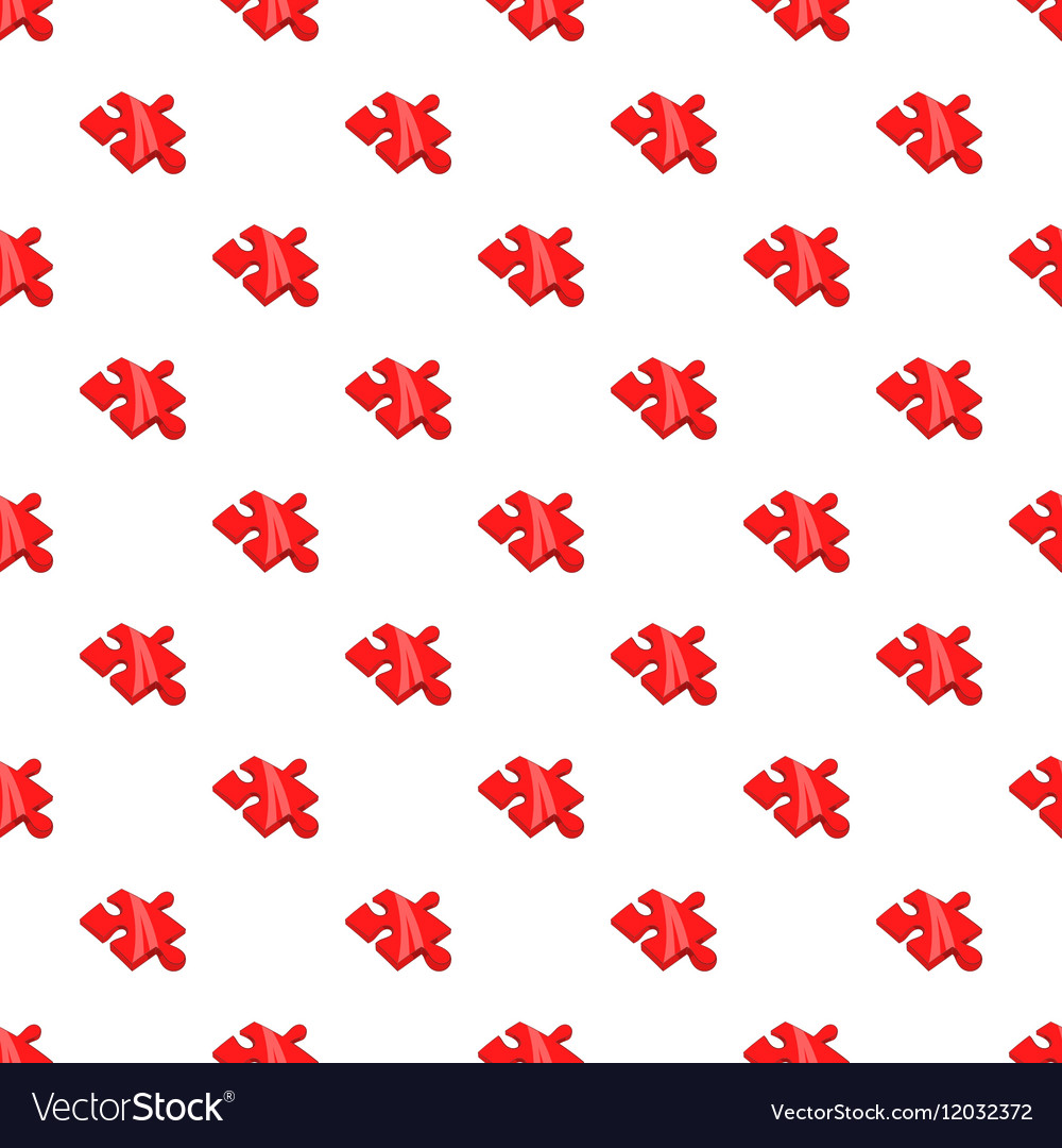 Piece of puzzle pattern cartoon style vector image
