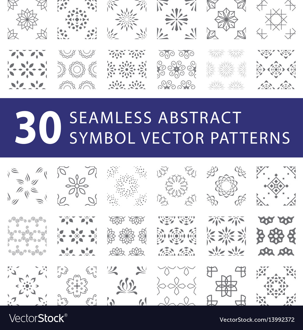Seamless symbol pattern swatches pack