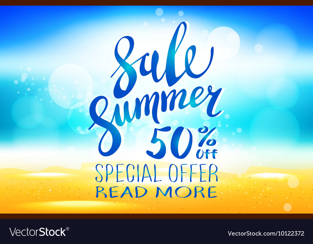 Summer sale marketing template with copy space