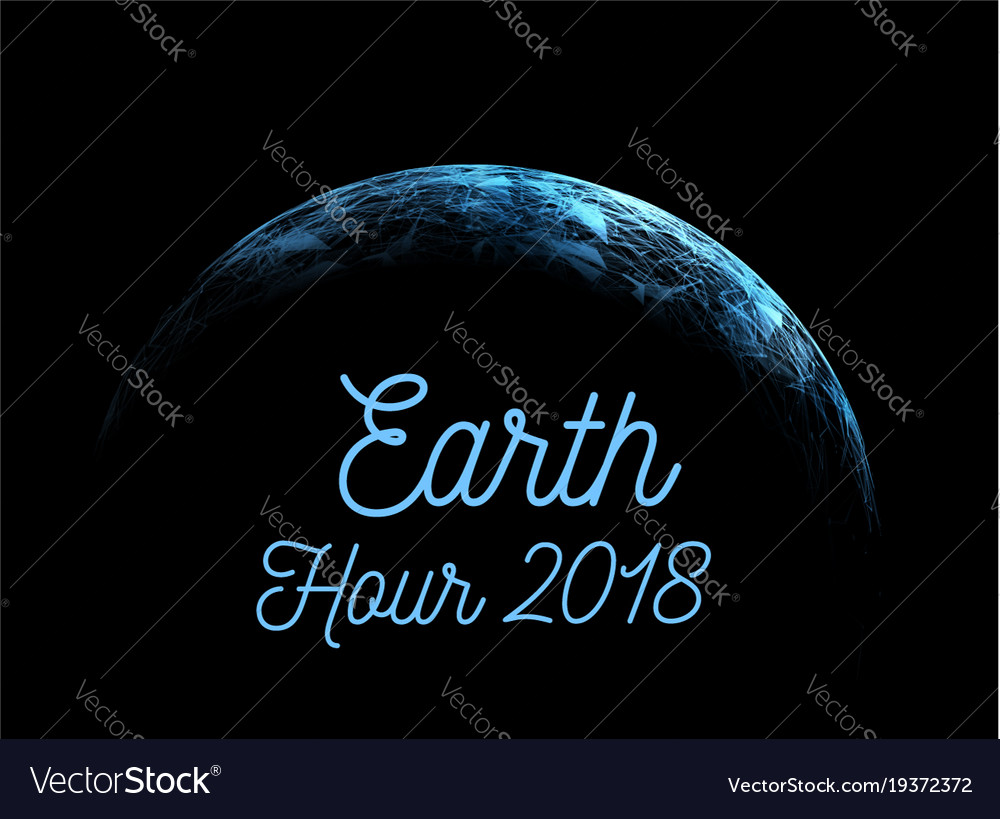 The earth hour is an international action calling