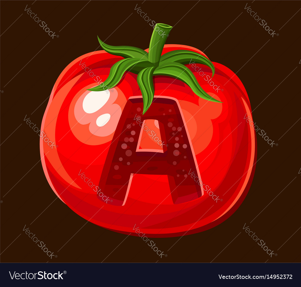 Tomato icon for slot game vector image