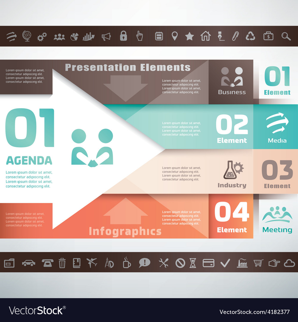 Business infographics and presentation template