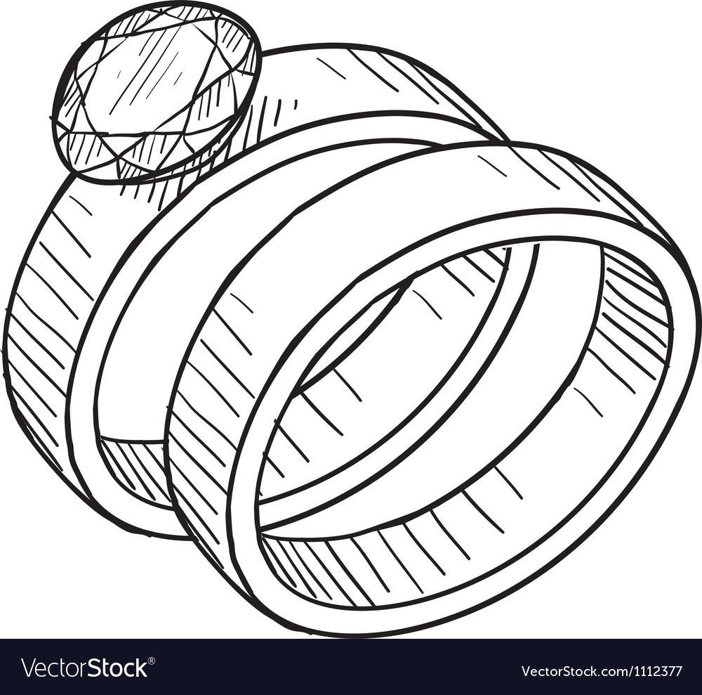 Doodle wedding rings