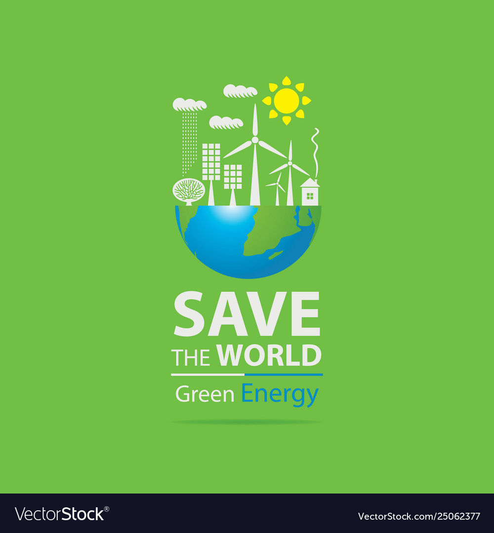 Environmental protection and ecology planet