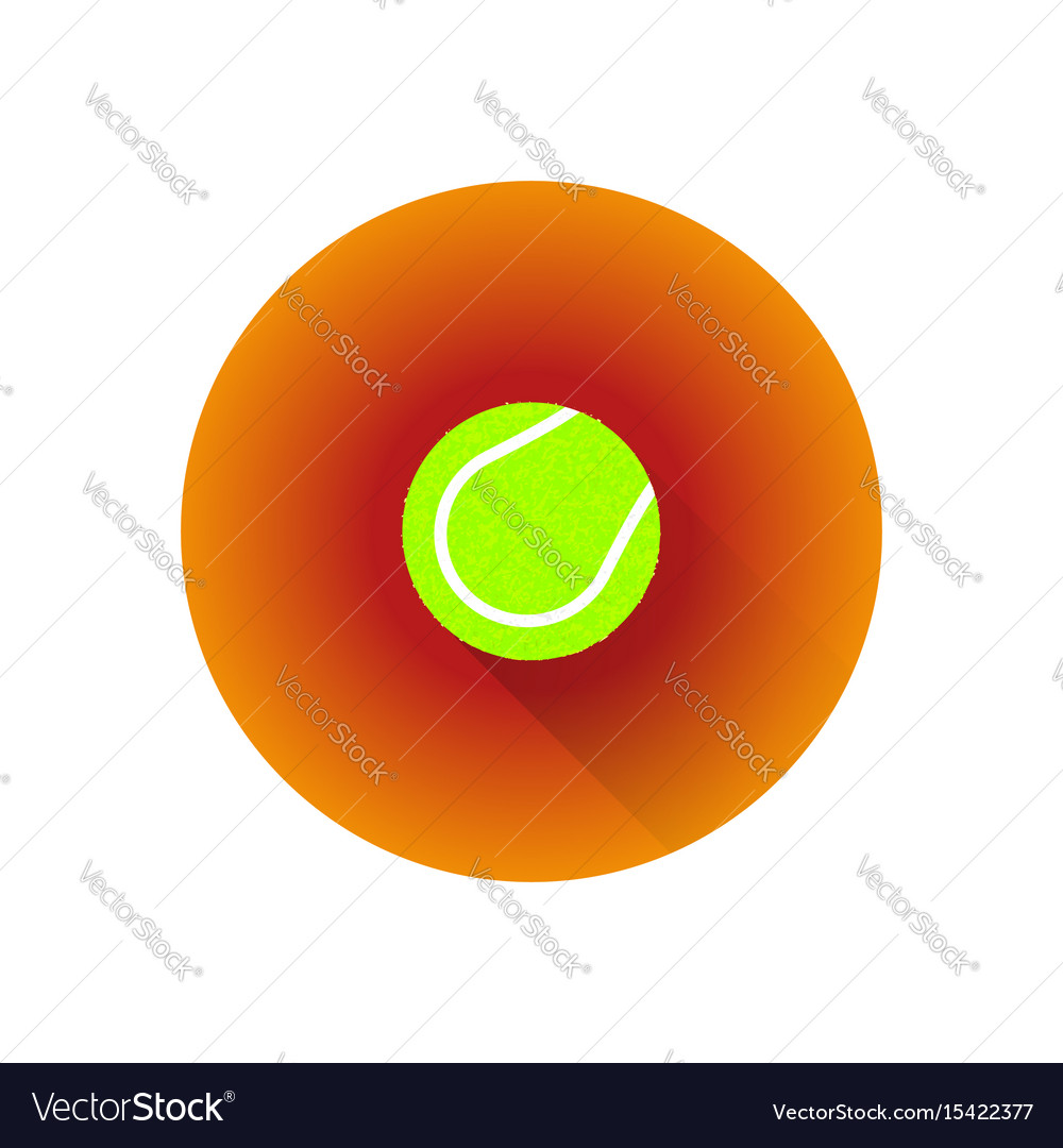 Flat Color Tennis Ball Royalty Free Vector Image