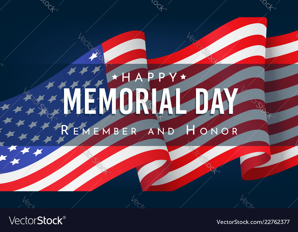 Memorial day remember and honor banner
