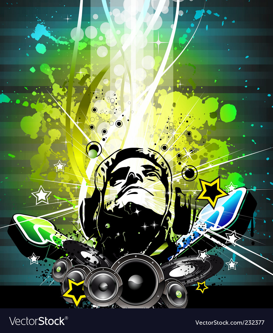 Music decay vector image