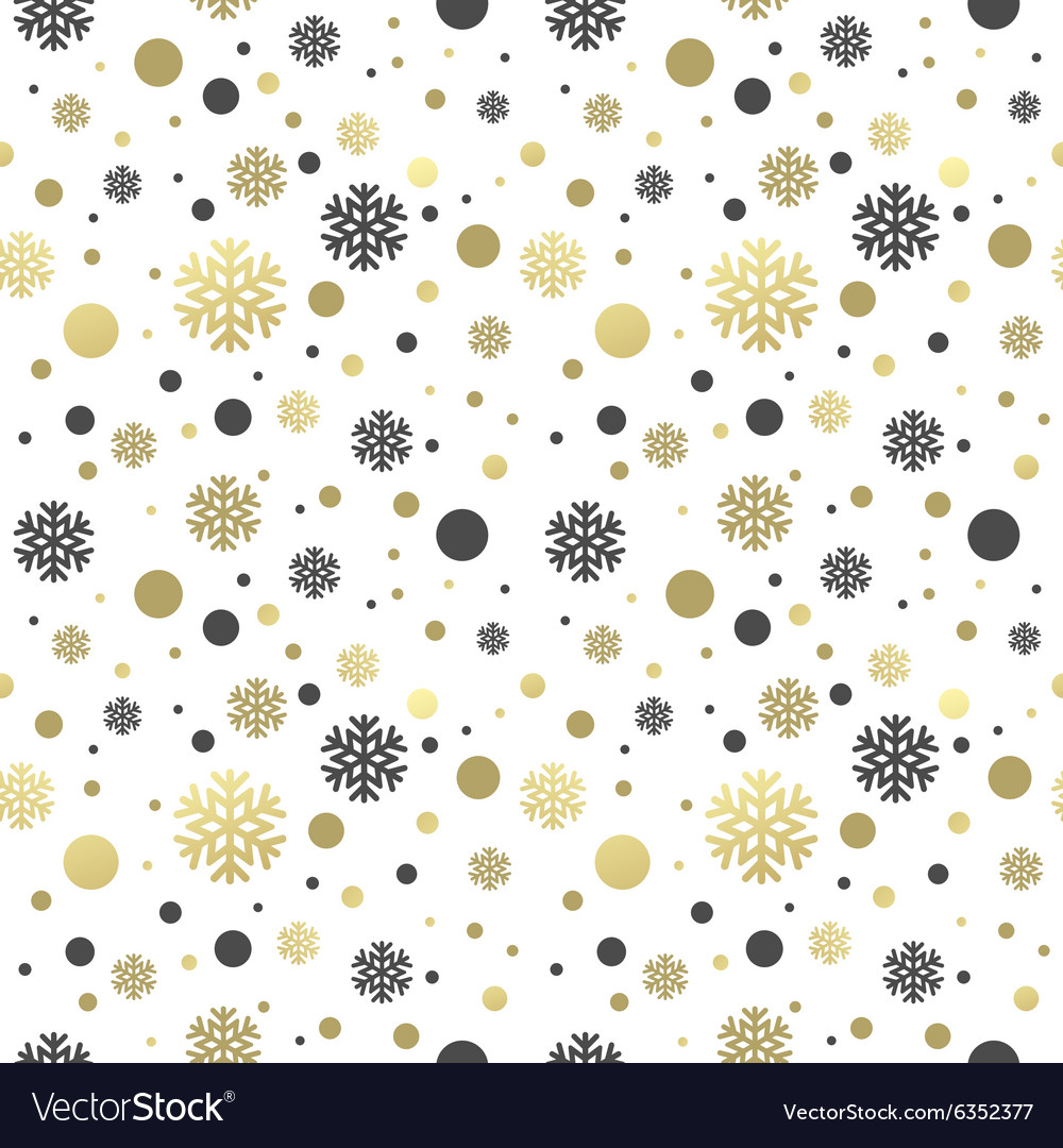 Seamless white christmas wallpaper with black and