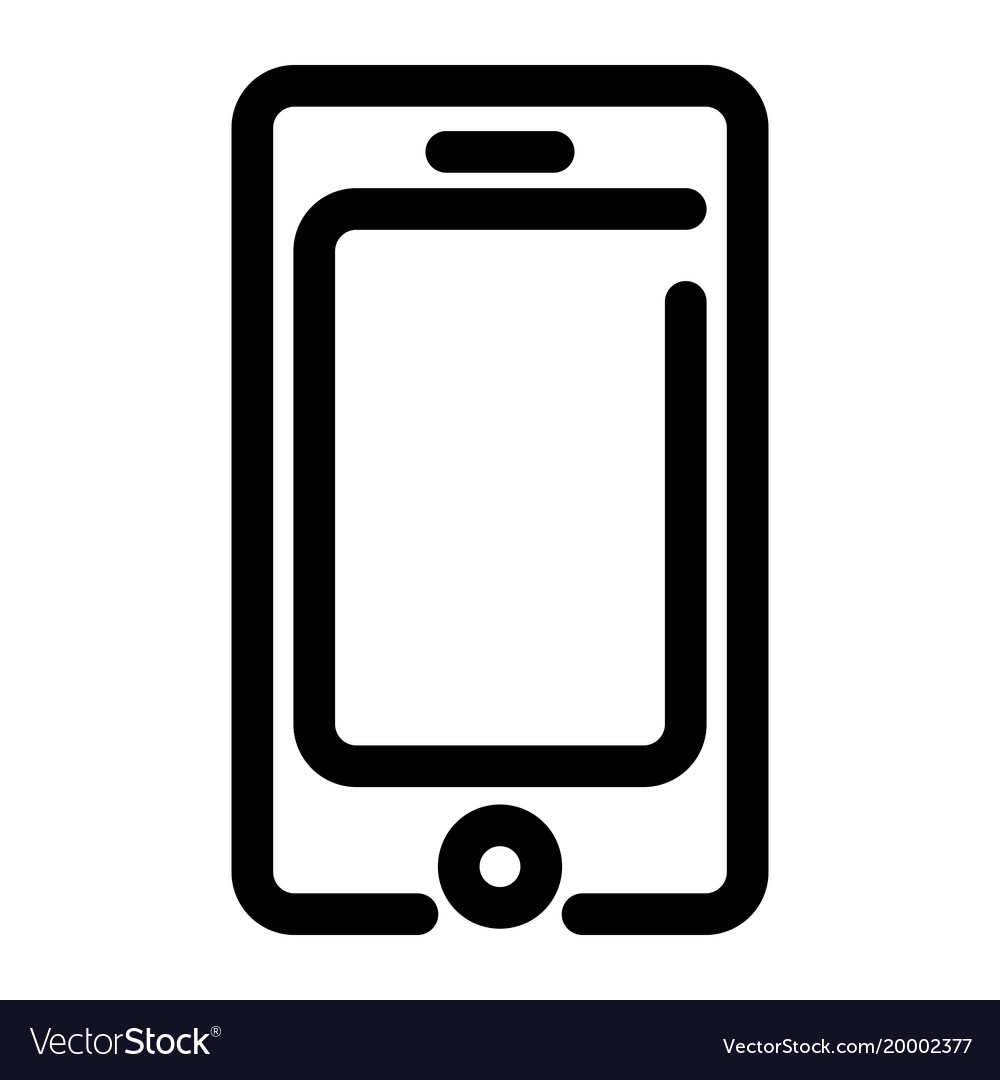 Smartphone icon mobile phone symbol outline vector image
