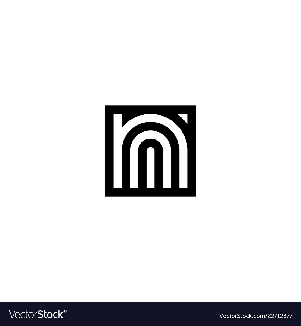 Square Stripes Logo Letter N Royalty Free Vector Image