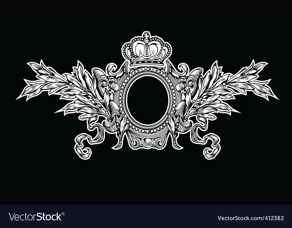 Antique crown royal frame