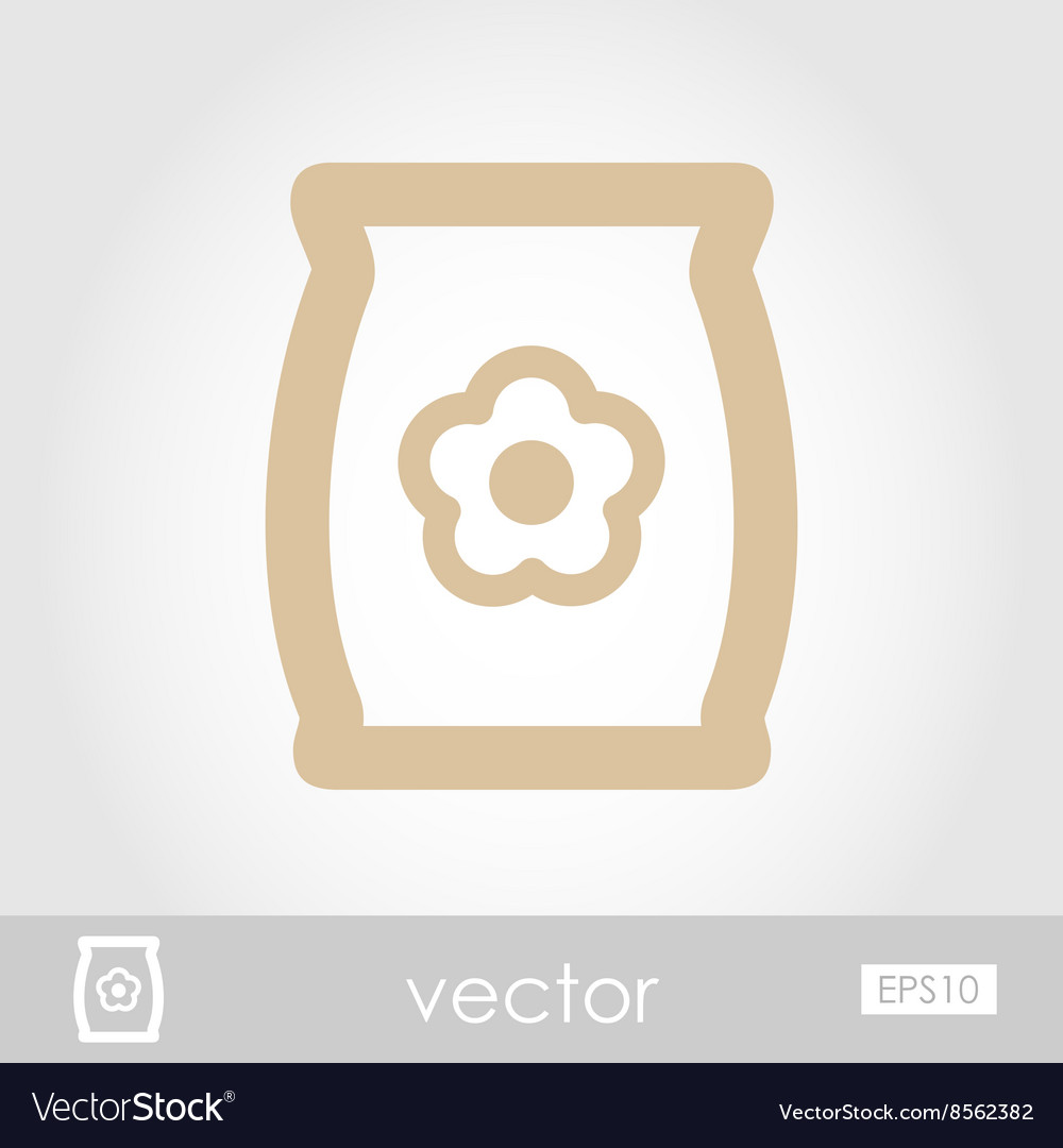 Bag sack flower seed icon vector image