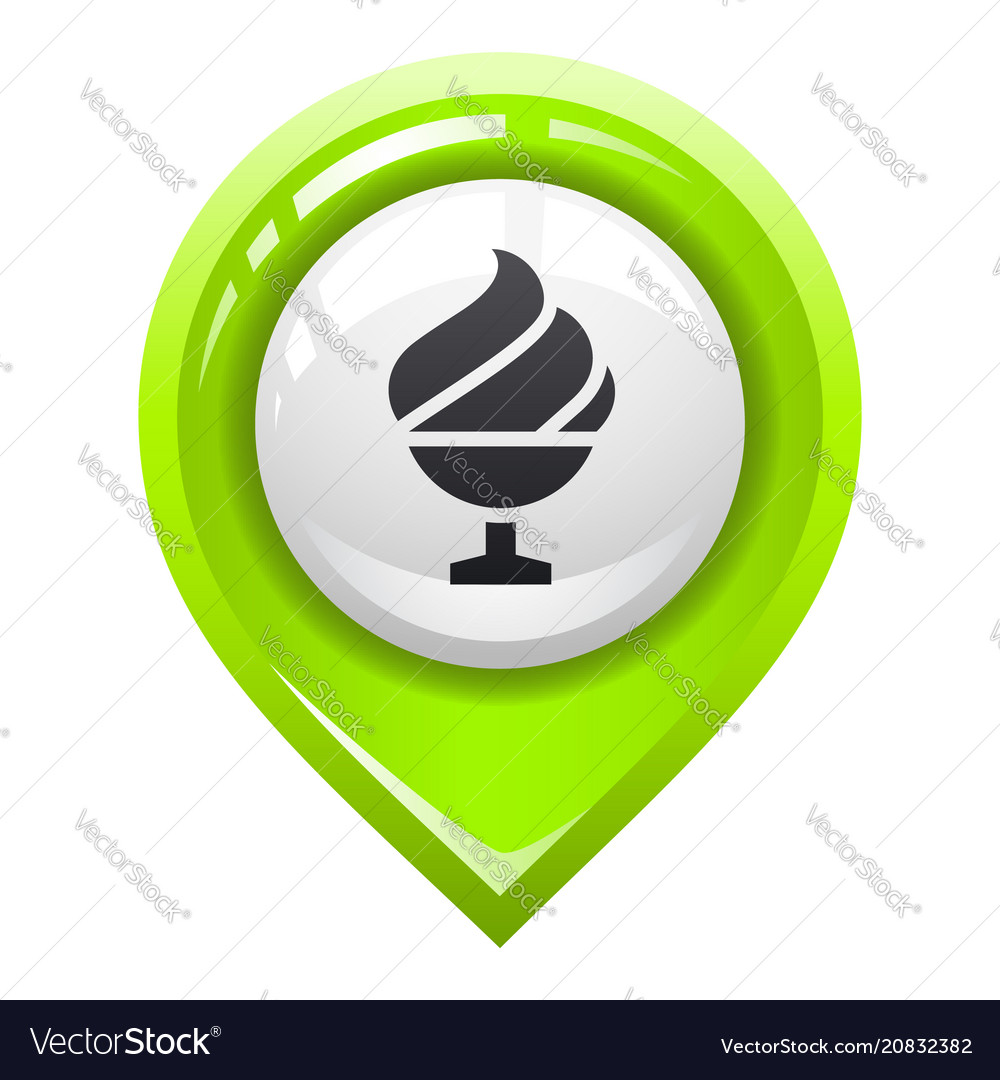 Brighted map marker vector image