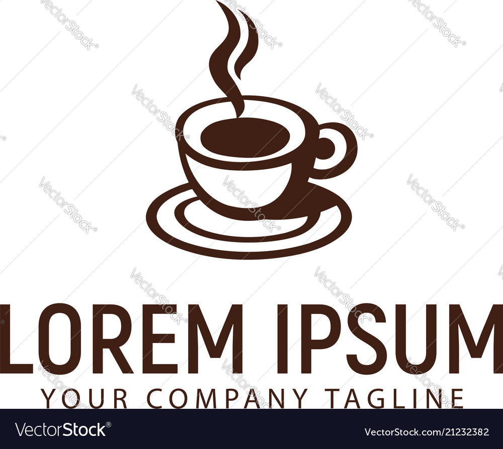 Coffee cup logo design concept template