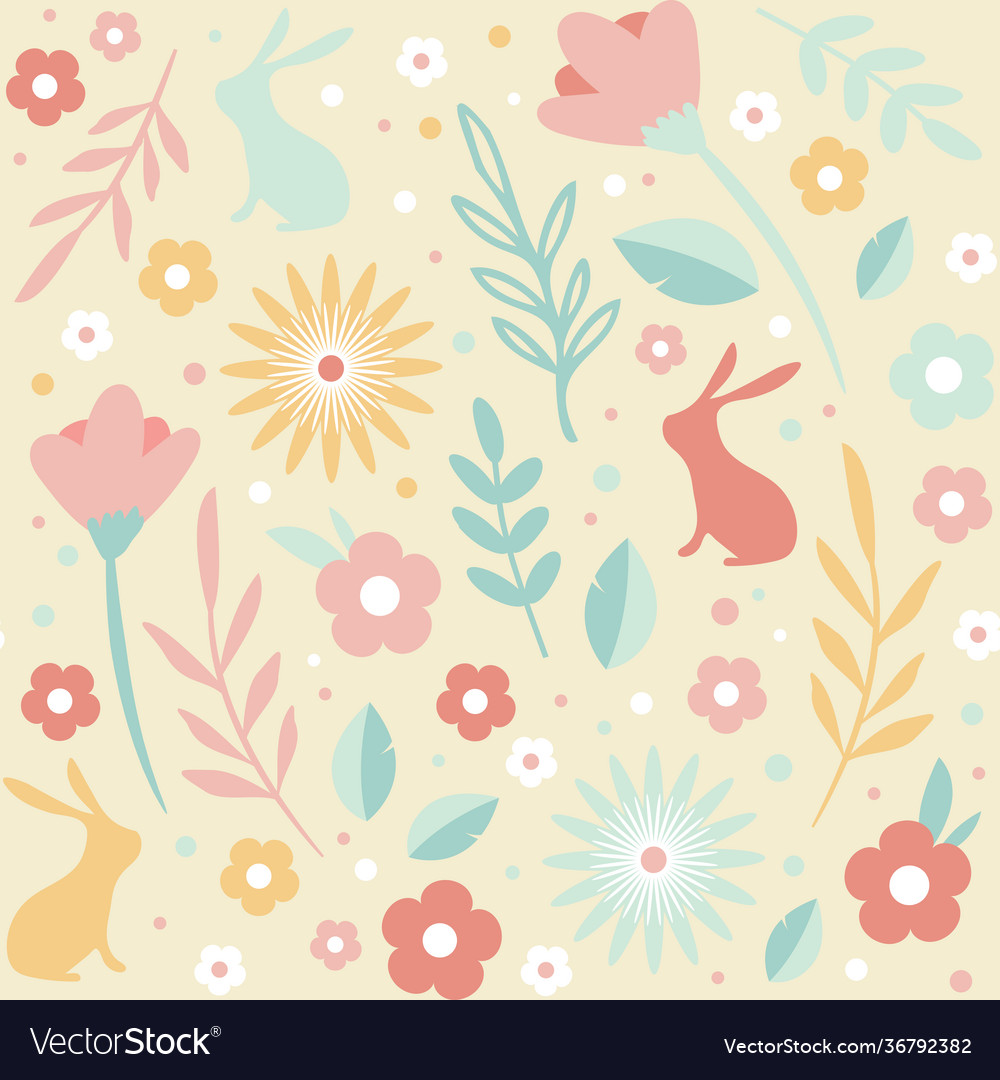 Easter seamless patterns spring pattern