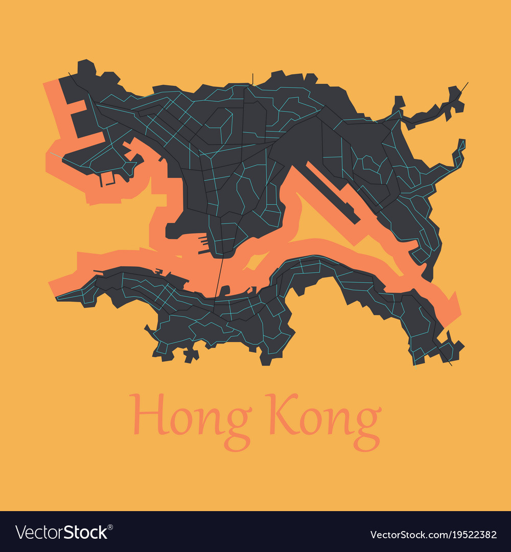 Flat icon in form of hongkong royalty free vector image flat icon in form of hongkong vector image gumiabroncs Images