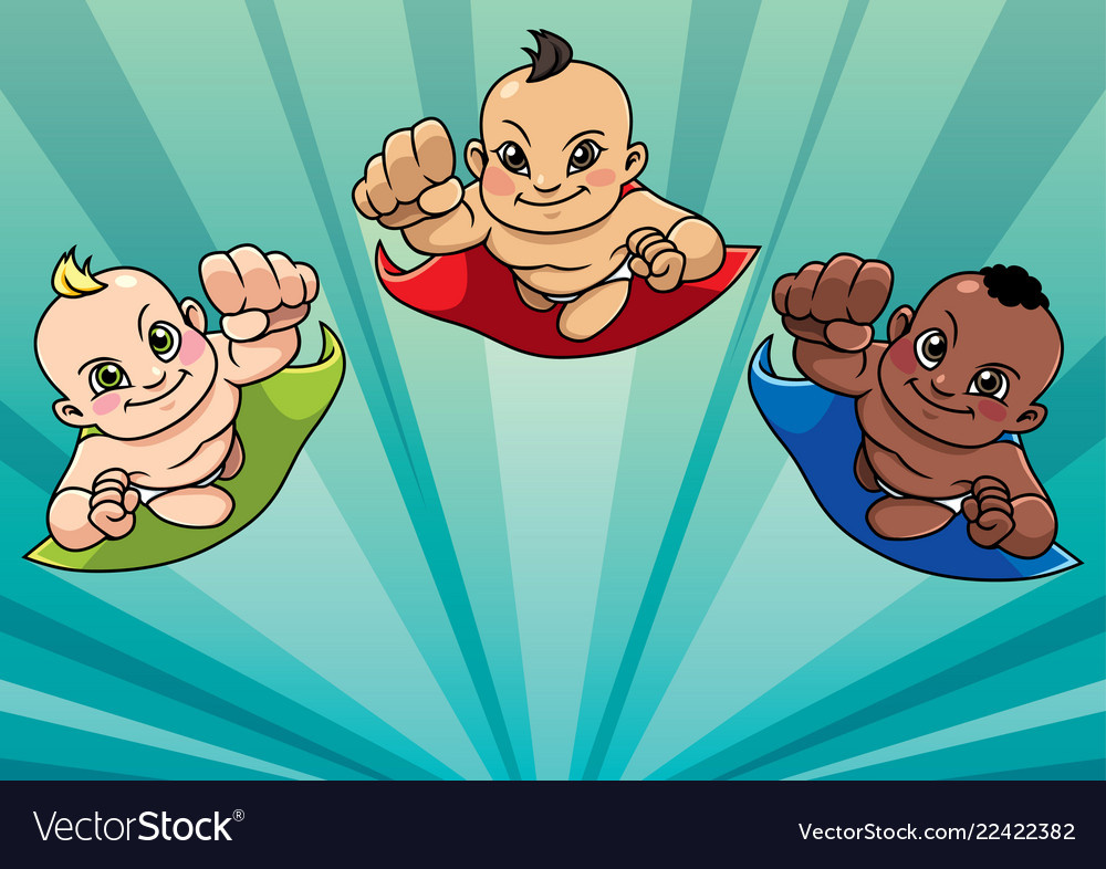 Flying babies background