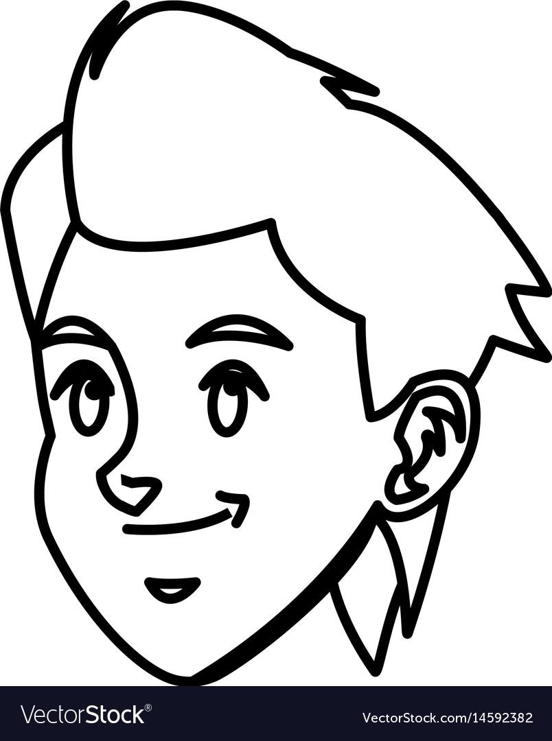 Head boy young smile facial expression line