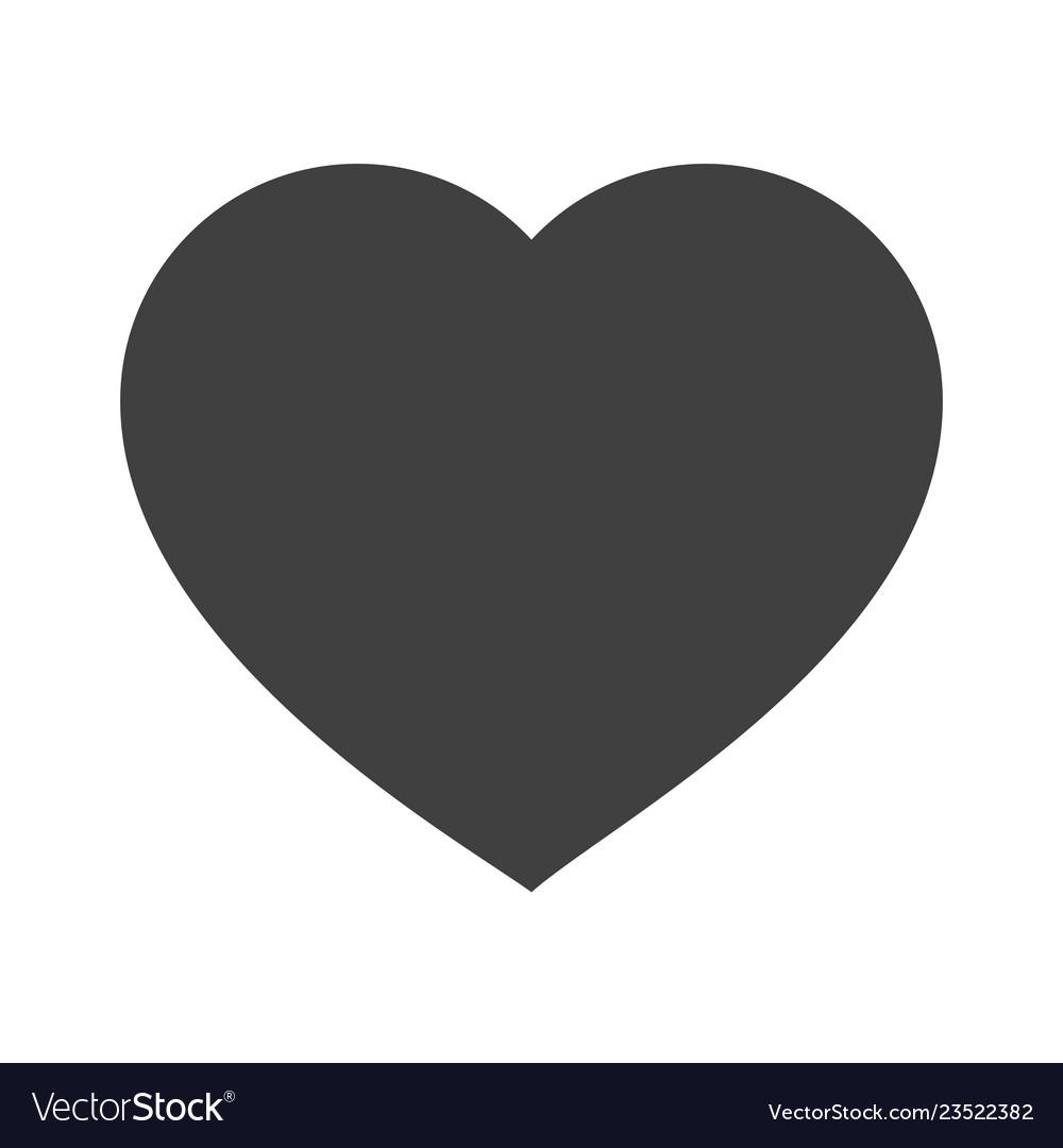 Heart icon valentine day sign