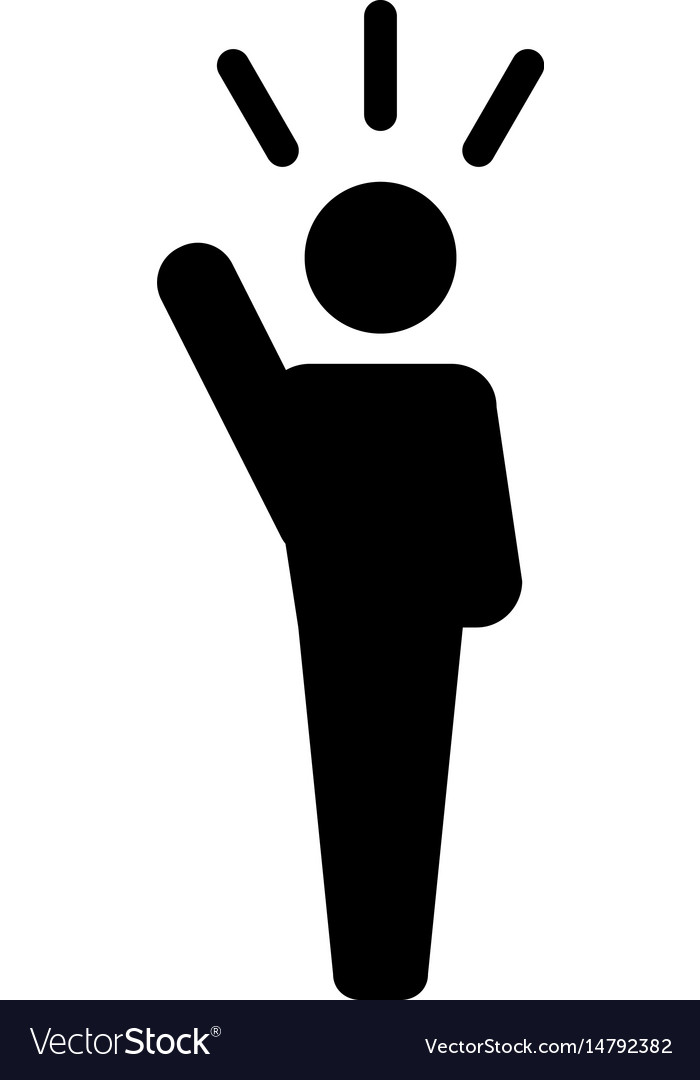 Leader Icon Man Public Speaking Person Symbol Vector Image