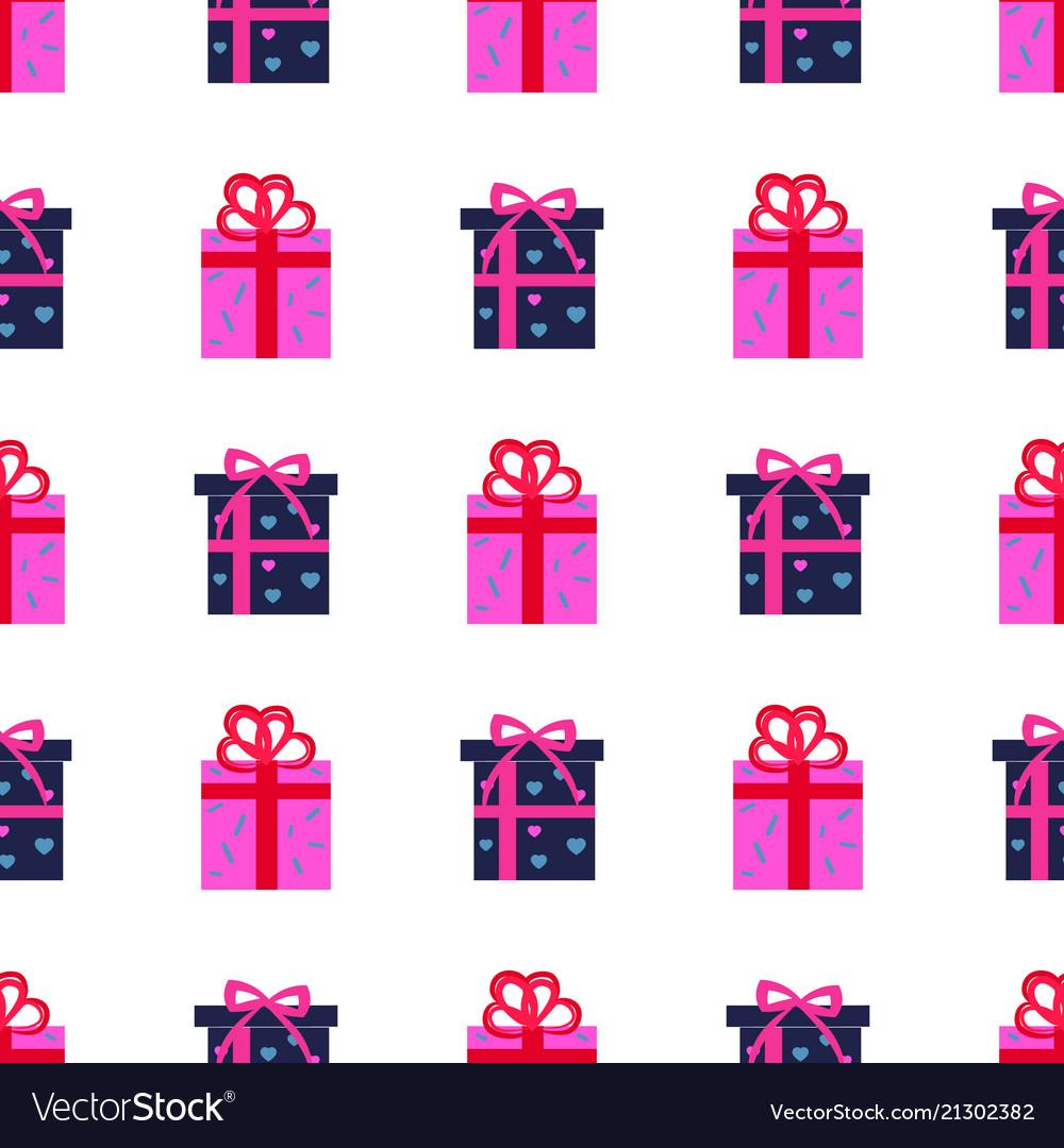 Presen gift boxes seamless pattern