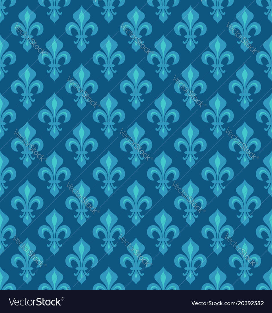 Royal heraldic lilies seamless pattern
